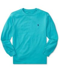 Image of Ralph Lauren Long-Sleeve Cotton T-Shirt, Big Boys (8-20)