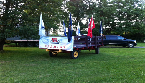 Our Farmers® Float for the Columbus, NJ parade