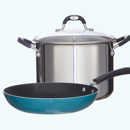 Cookware. Cooking at home has never been easier with amazing deals on cookware from top brands! You'll find great deals on everything from ceramic non-stick pots and pans to traditional cookware and more.