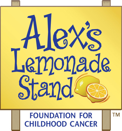 a logo for Alex's Lemonade Stand