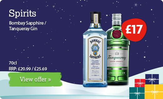 Christmas spirits offer available until 10th December