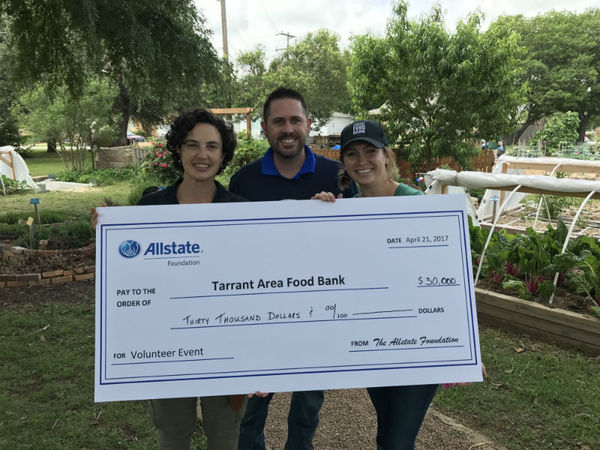 Matt Scheffler - Allstate Foundation Helping Hands Grant for Tarrant Area Food Bank