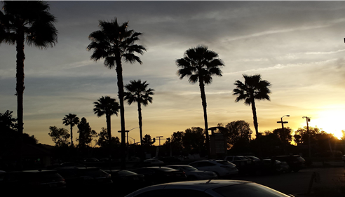 What a view from the Mansour Insurance Agency shopping center in West Covina, Ca