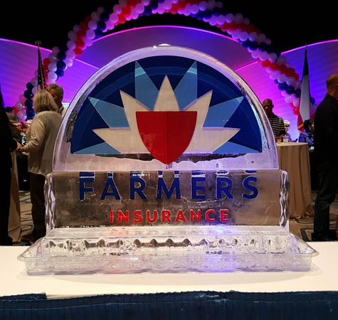 Farmers Insurance Ice Sculpture at Texas Agents Conference