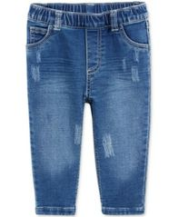 Image of First Impressions Distressed Pull-On Jeans, Baby Boys (0-24 months), Created for Macy's