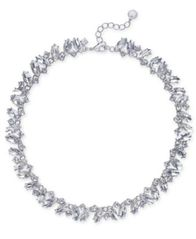 Image of Charter Club Silver-Tone Marquise Crystal All-Around Collar Necklace, Created for Macy's