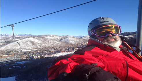 Ski lift in Park City.  Great day skiing and watching Olympic Qualifying Runs.