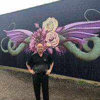 Adam-Saadi-Allstate-Insurance-Houston-TX-2150-sq-Purple-Purse-mural-auto-home-life-car-agent-agency