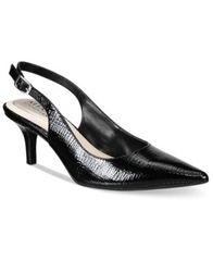 Image of Alfani Women's Step 'N Flex Babbsy Pointed-Toe Slingback Pumps, Created for Macy's