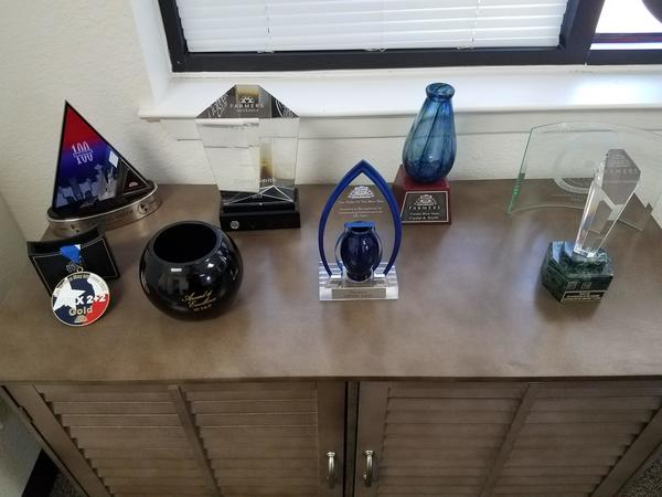 Various awards and trophies