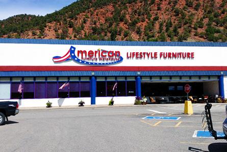 american furniture warehouse at 3200 s glen ave glenwood springs co. Black Bedroom Furniture Sets. Home Design Ideas