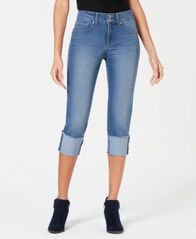 Image of Style & Co High Cuffed Capri Jeans, Created for Macy's