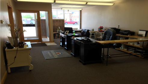 Front office at our new location