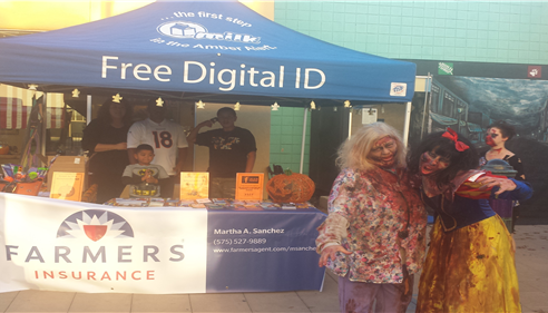 Zombie Walk 2014- The Martha Sanchez Insurance Agency handed out child id kits.