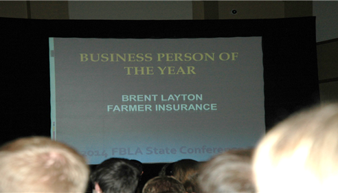 Utah FBLA has about 2,900 members. I was chosen as Business Person of the year.