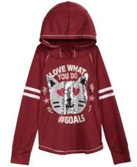 Image of Beautees Big Girls Reversible Sequin Hooded Top