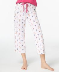 Image of Charter Club Cotton Printed Pajama Pants, Created for Macy's