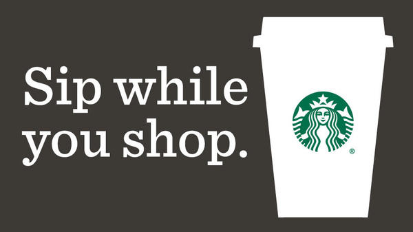 Sip while you shop.