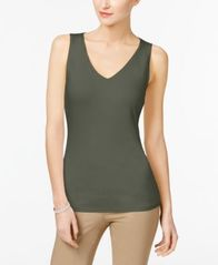 Image of INC International Concepts V-Neck Tank Top, Created for Macy's
