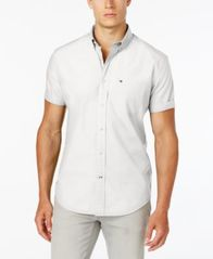 Image of Tommy Hilfiger Men's Maxwell Short-Sleeve Button-Down Classic Fit Shirt, Created for Macy's