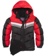 Image of CB Sports Hooded Colorblocked Puffer Coat, Big Boys