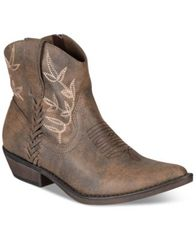 Image of American Rag Dolly Cowboy Ankle Booties, Created for Macy's
