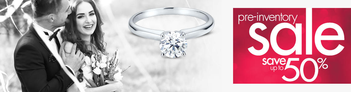 Save up to 50% off Pre Inventory Sale Diamond and Gemstone collections.