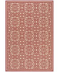 Image of Safavieh Linden Red and Creme 4' x 6' Area Rug