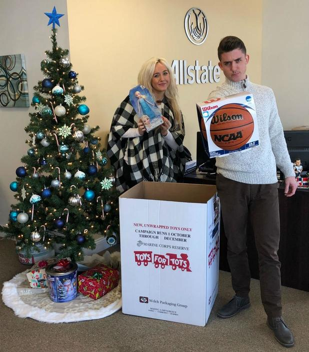 Kurt Wicks - Allstate Foundation Helping Hands Grant for Marine Toys for Tots