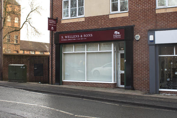 S Wellens & Sons Funeral Directors in Blackley, Manchester.