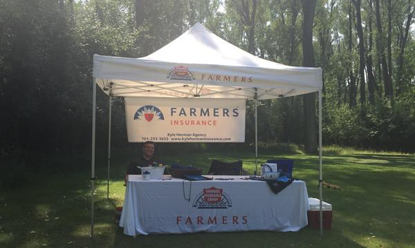 farmers booth and table
