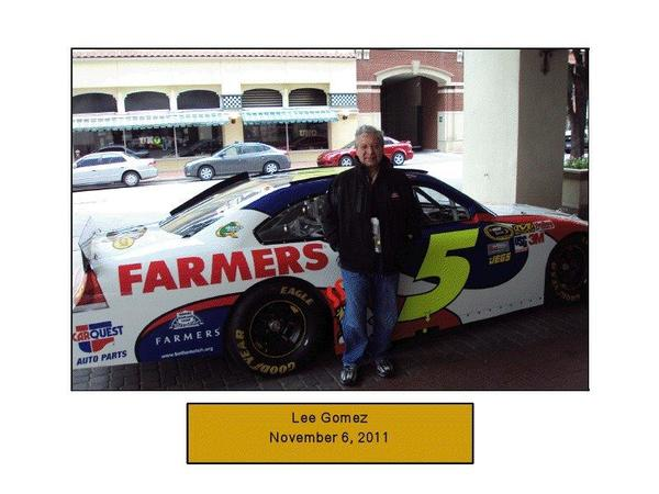 November 11, 2011 at my first NASCAR Race in Fort Worth, Texas.