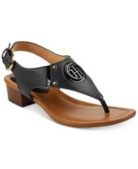 Image of Tommy Hilfiger Kissi Block-Heel Sandals