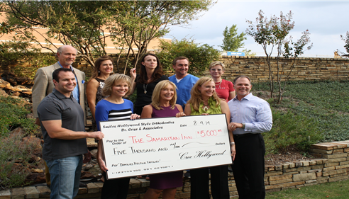 We were able to help raise $5000 for the Samaritan Inn of McKinney.