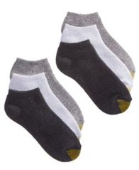 Image of Gold Toe Women's Ankle Cushion No Show 6-Pack Socks, also available in Extended Sizes