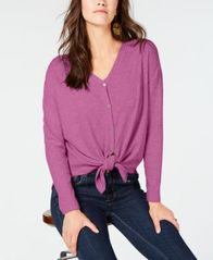 Image of Style & Co Thermal Button-Front Shirt, Created for Macy's