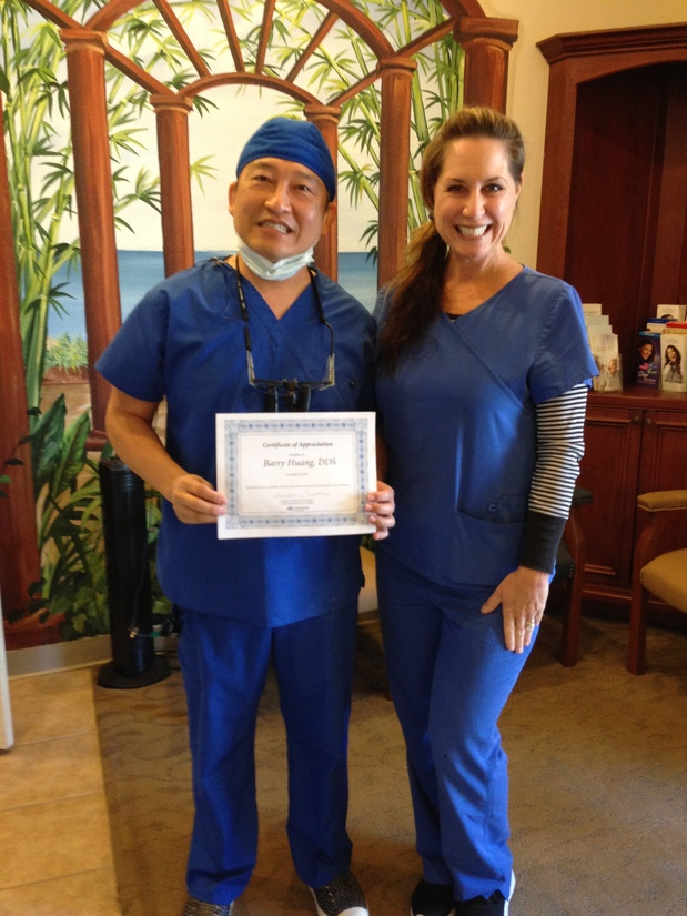 Thank you Dr Huang and staff for being outstanding members of Corona's business community!