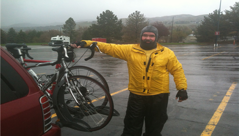 We felt like a couple of wet rats after the SLC Marathon bike tour!
