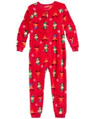 Image of Matching Family Pajamas Elf One-Piece, Available in Toddler and Kids, Created for Macy's