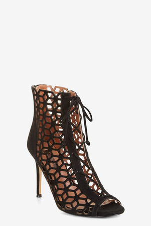 ISCA FAUX-SUEDE CAGE BOOTIE
