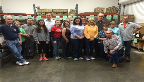 Joyce volunteering at the CC Food Bank with the Danville Sycamore Rotary Group.