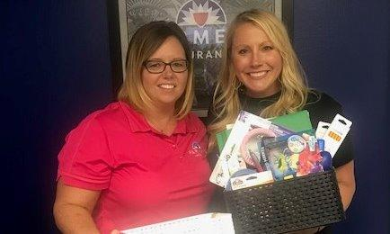 Donation of school supplies to local teacher