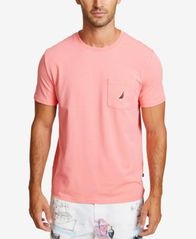Image of Nautica Men's Solid Stretch Anchor T-Shirt