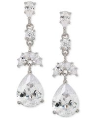 Image of Giani Bernini Cubic Zirconia Drop Earrings in Sterling Silver, Created for Macy's