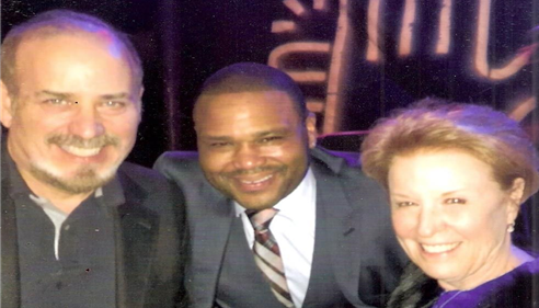 With Anthony Anderson at Sierra Canyon School fundraiser.