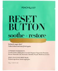 Image of Peach & Lily Reset Button Soothe + Restore Sheet Mask, 0.85 fl oz