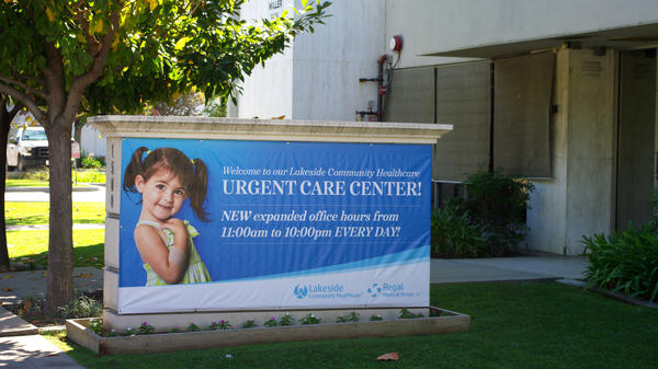 Urgent Care Sign at Lakeside West Covina Urgent Care