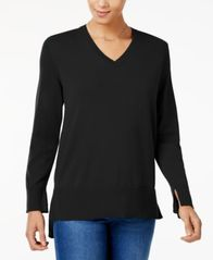 Image of Style & Co High-Low Sweater, Created for Macy's