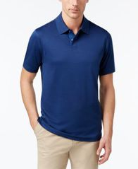 Image of Tasso Elba Men's Supima® Blend Cotton Polo, Created for Macy's
