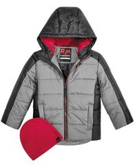 Image of RM 1958 Little Boys Branson Colorblocked Hooded Jacket with Hat